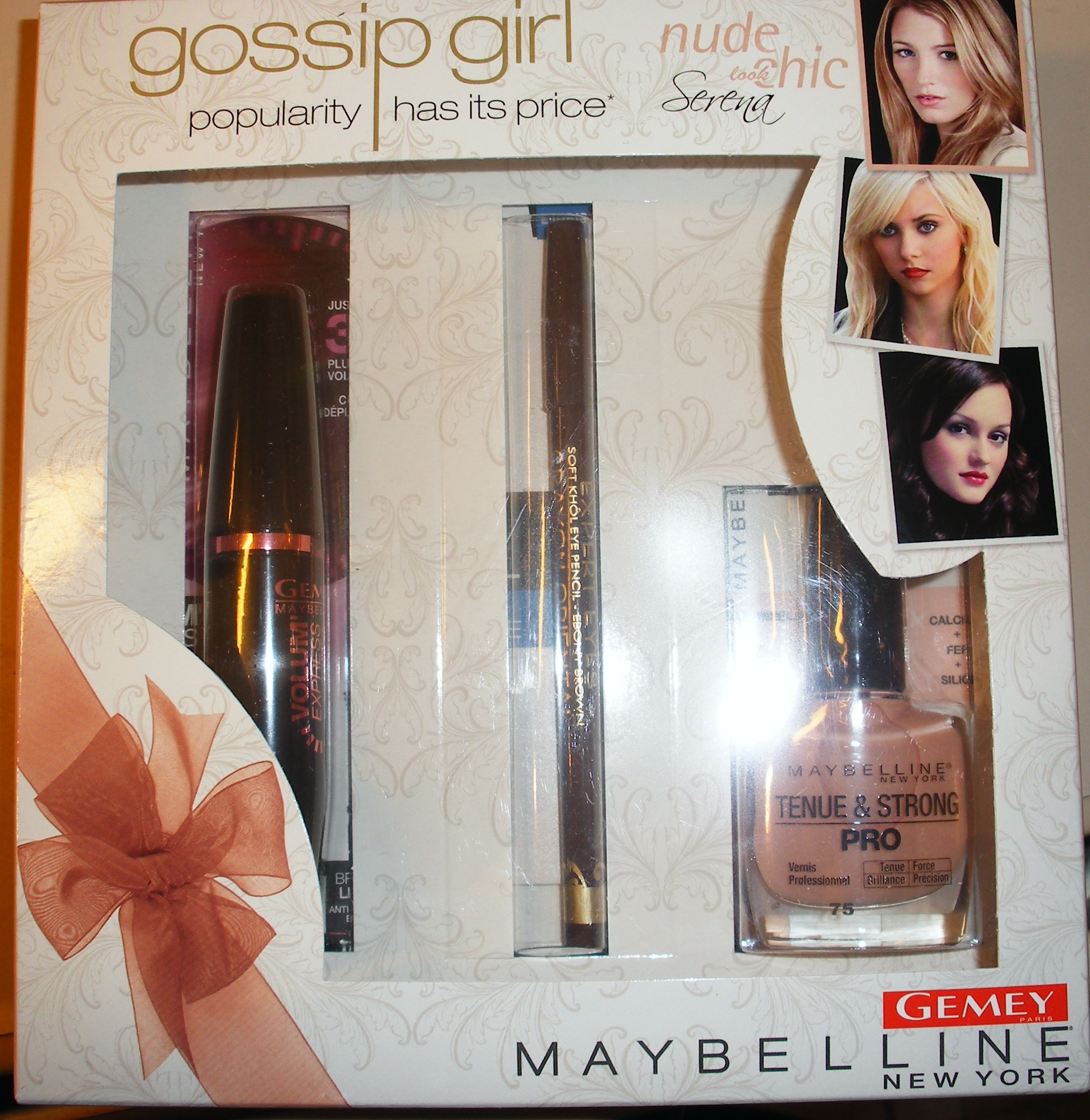 coffret gossip girl gemey maybelline serena wtp. Black Bedroom Furniture Sets. Home Design Ideas